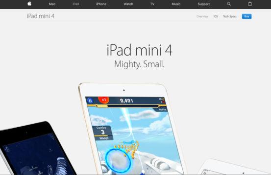 Apple screenshot - minimalism