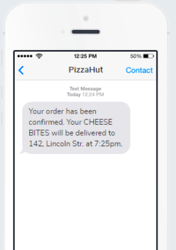 Order Confirmation SMS