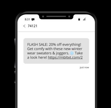 Winter Flash Sale SMS
