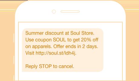 Summer Discount SMS Message